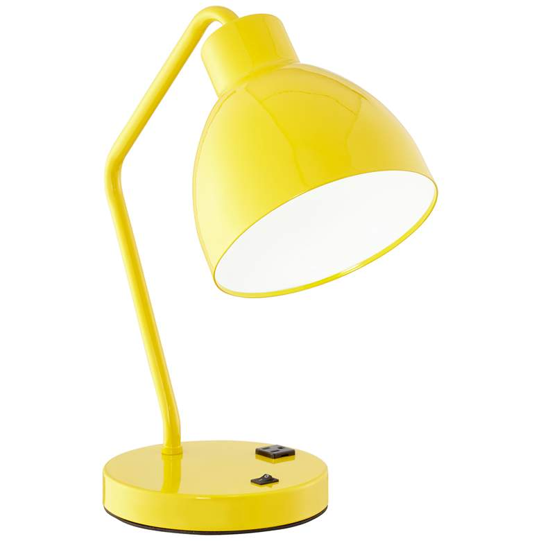 9Y613 - Yellow Metal Table Lamp W/Bolt Down Hardware