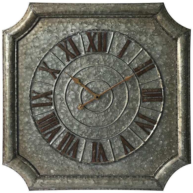 """Stamped Metal 22 3/4"""" Octagon Wall Clock"""