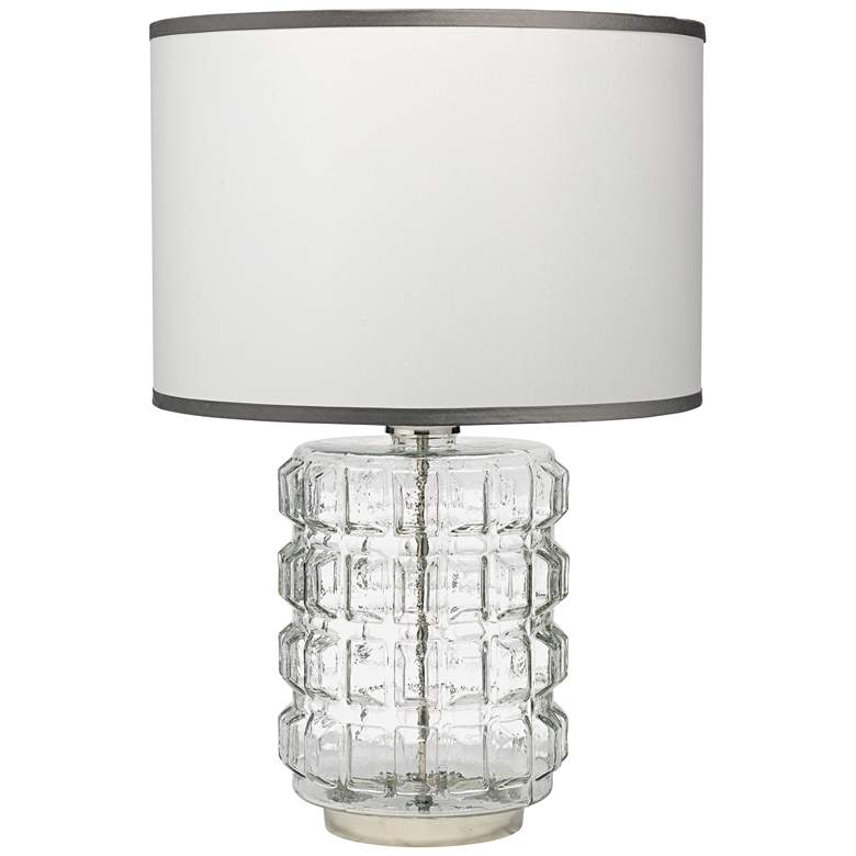 Jamie Young Madison Clear Glass Block Grid Table Lamp