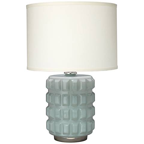 Jamie Young Madison Mist Glass Block Grid Table Lamp