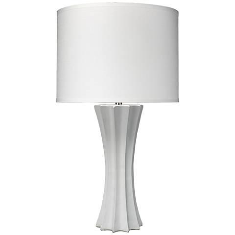 Jamie Young Sand Dollar Matte White Coastal Table Lamp