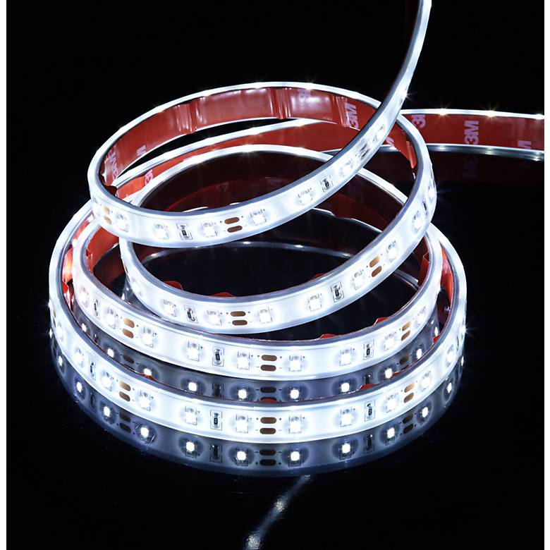 6' White Coated Flex Non-Dimmable LED Tape Light Kit