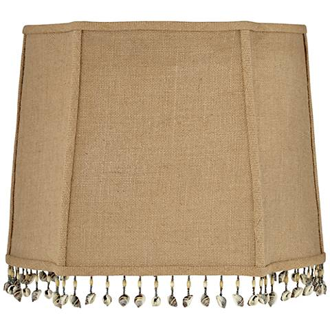 Shell and Bead Tassel Lamp Shade 10/14x12/16x12 (Spider)