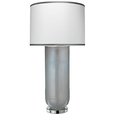 Jamie Young Large Vapor Foggy Opal Glass Table Lamp