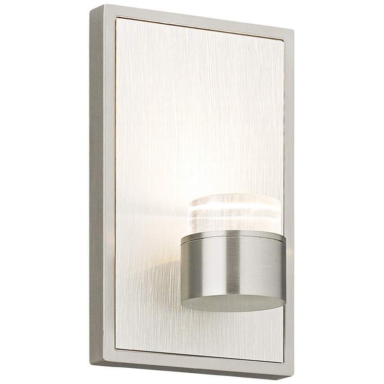 """Dobson 7""""H Satin Nickel LED Wall Sconce"""