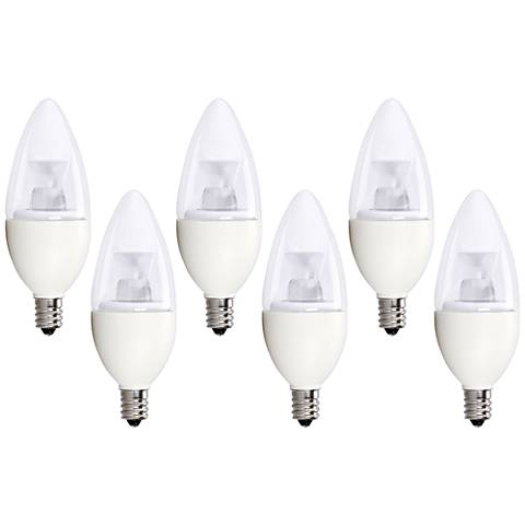 40W Equivalent Bioluz 5W LED Dimmable Candelabra Bulb 6-Pack