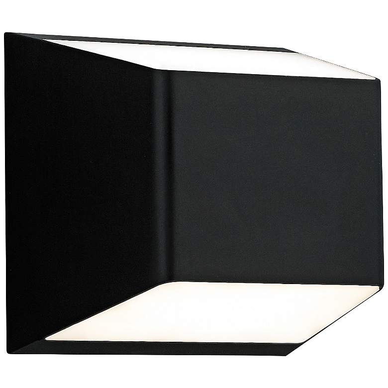"""Ebb 5 1/4""""H Black Up and Down LED Outdoor Wall Light"""