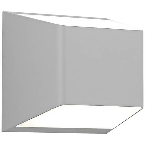 """Ebb 5 1/4""""H Gray Up and Down LED Outdoor Wall Light"""