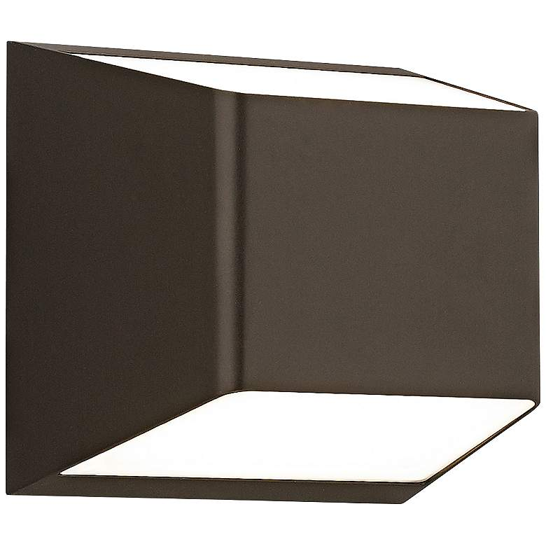 """Ebb 5 1/4""""H Up and Down Bronze LED Outdoor Wall Light"""