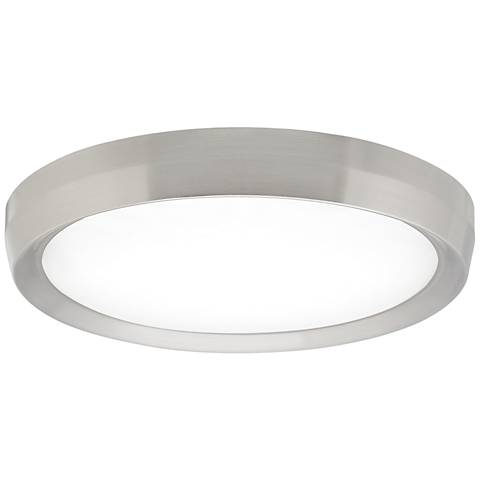 "Tech Lighting Bespin 18""W Satin Nickel LED Ceiling Light"
