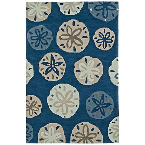 Dalyn Seaside Baltic Blue Rectangle Area Rug