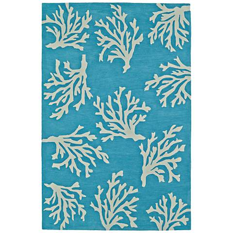 Dalyn Seaside Sky Coral Rectangle Area Rug