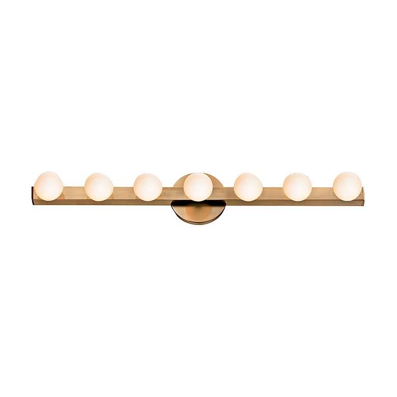"Hudson Valley Taft 27"" Wide Aged Brass LED"