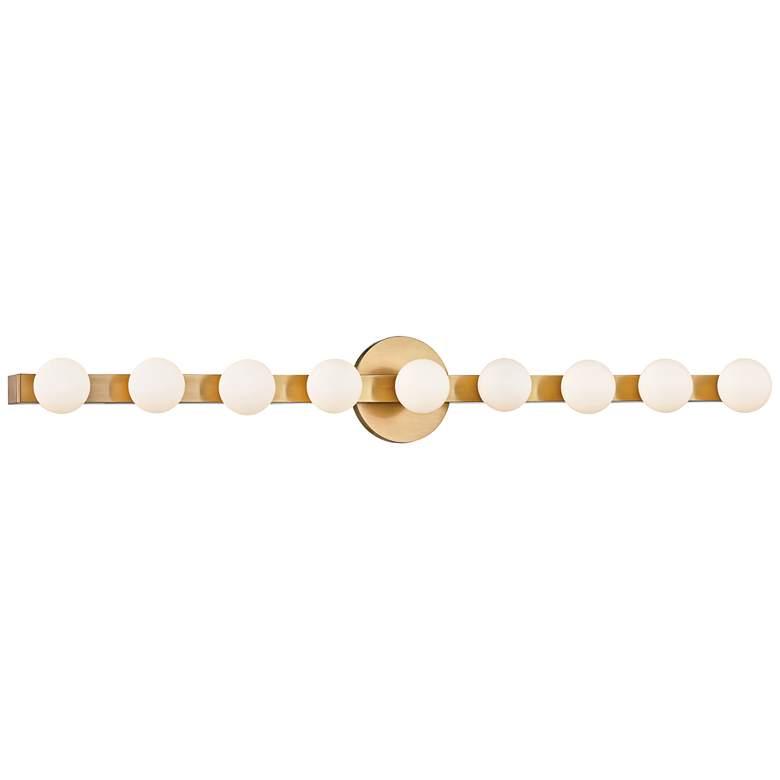 "Hudson Valley Taft 35"" Wide Aged Brass LED"