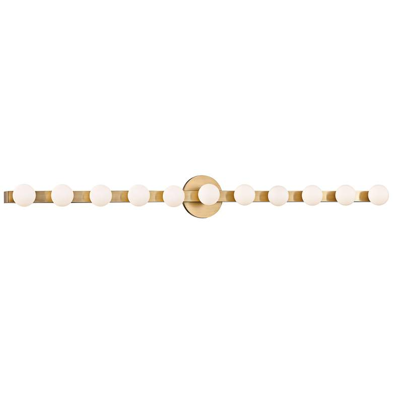 "Hudson Valley Taft 43 1/4""W Aged Brass LED"
