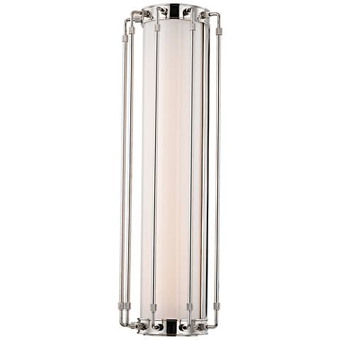 "Hyde Park 23 1/2"" High Polished Nickel LED Wall Sconce"
