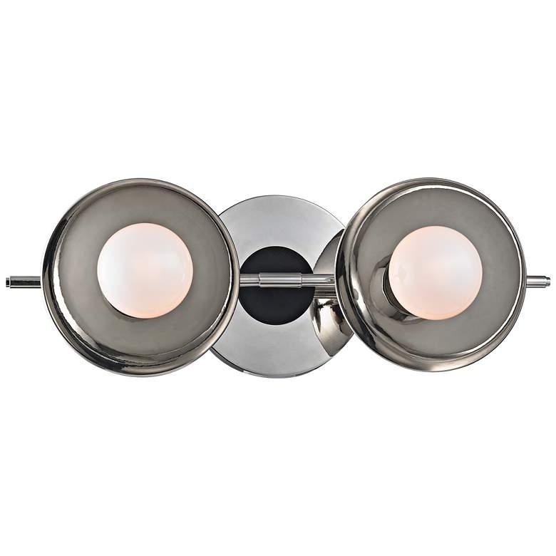 """Julien 4 3/4""""H 2-Light Polished Nickel LED Bath"""