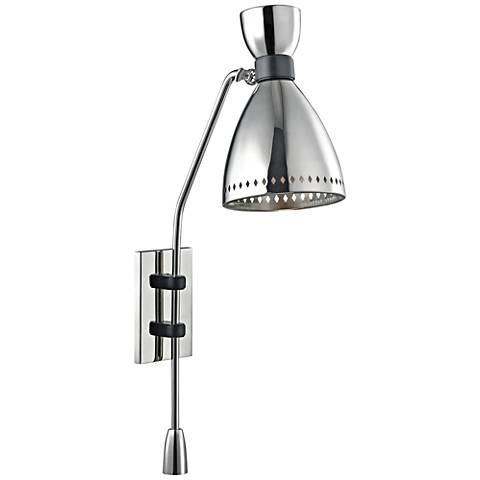 "Hudson Valley Solaris 29 3/4""H Polished Nickel Sconce"