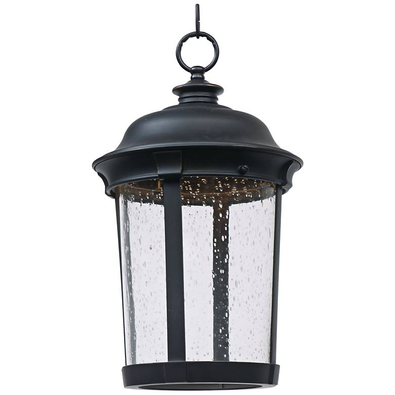 """Maxim Dover 16 1/2"""" High Bronze LED Outdoor Hanging Light"""