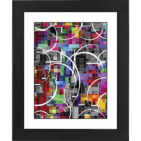 "Neon Vapor Black Frame Giclee 23 1/4"" High Wall Art"