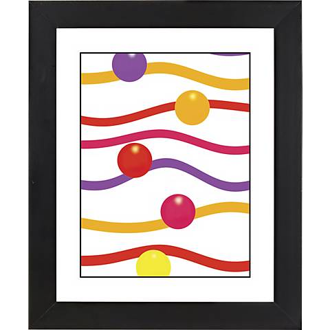 "Floating Paper Black Frame Giclee 23 1/4"" High Wall Art"