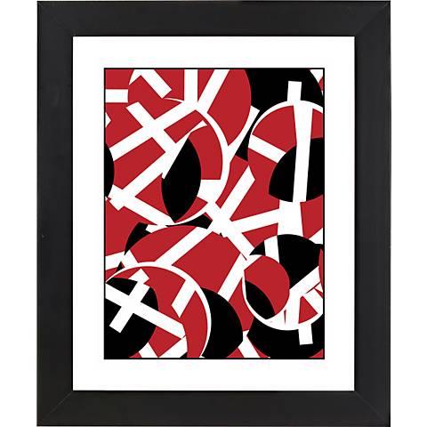 "Movement Black Frame Giclee 23 1/4"" High Wall Art"