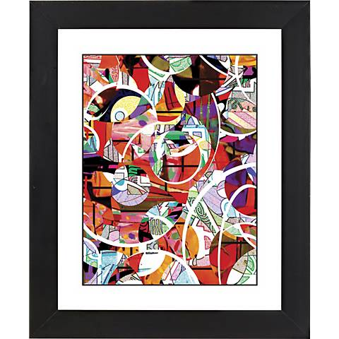 "Happiness Black Frame Giclee 23 1/4"" High Wall Art"