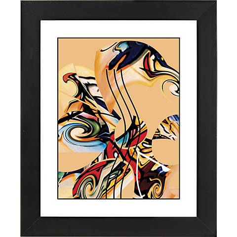 """Musical Dreams Black Frame Giclee 23 1/4"""" High Wall Art"""