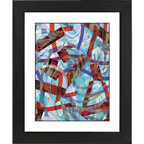 "Chopsticks Black Frame Giclee 23 1/4"" High Wall Art"