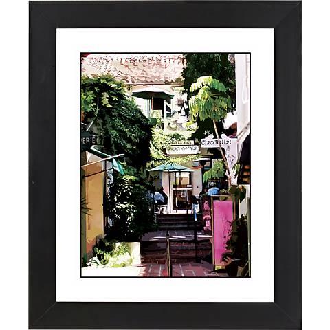 "Sidewalk Cafe Black Frame Giclee 23 1/4"" High Wall Art"