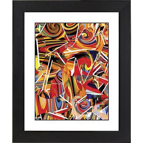 "Swing Time Black Frame Giclee 23 1/4"" High Wall Art"