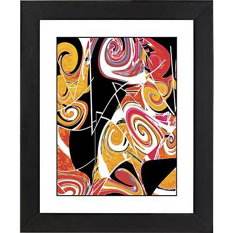 "Dark Valentine Black Frame Giclee 23 1/4"" High Wall Art"