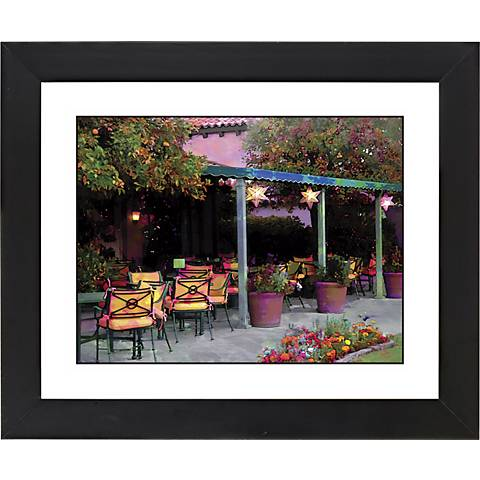 "Garden Black Frame Giclee 23 1/4"" High Wall Art"