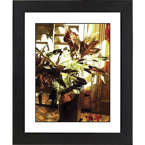 """Bloom I Black Frame Giclee 23 1/4"""" High Wall Art"""
