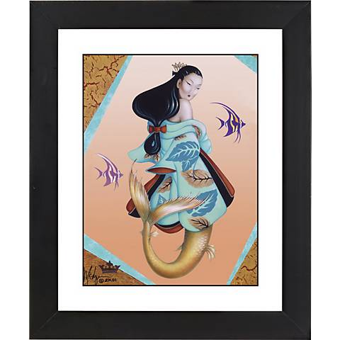 "Ningyo Princess Black Frame Giclee 23 1/4"" High Wall Art"