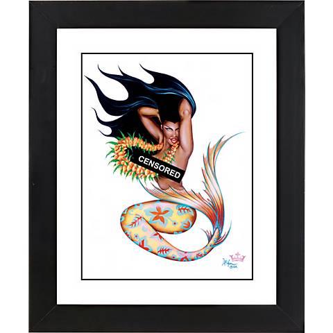 """Taboo Kai II Black Frame Giclee 23 1/4"""" High Wall Art"""