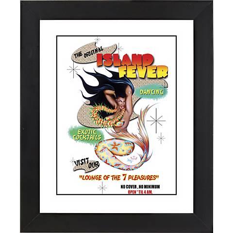 """Island Fever Mermaid Black Frame 23 1/4"""" High Wall Art"""