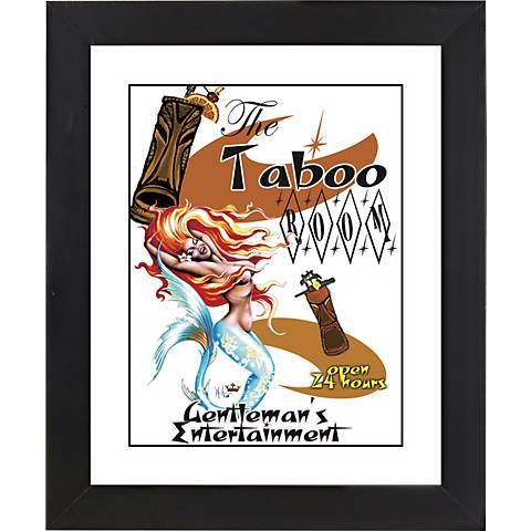 """Taboo Mermaid Black Frame Giclee 23 1/4"""" High Wall Art"""