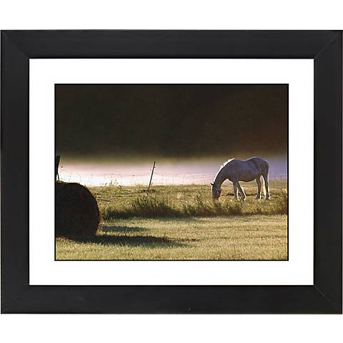 "Pasture Black Frame Giclee 23 1/4"" Wide Wall Art"