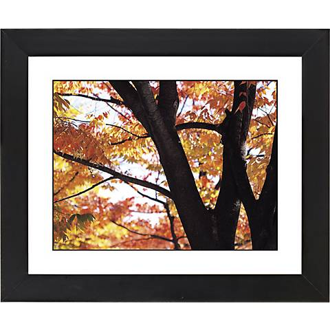 "Autumn Color Black Frame Giclee 23 1/4"" Wide Wall Art"