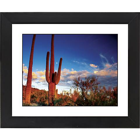 "Red Desert Black Frame Giclee 23 1/4"" Wide Wall Art"