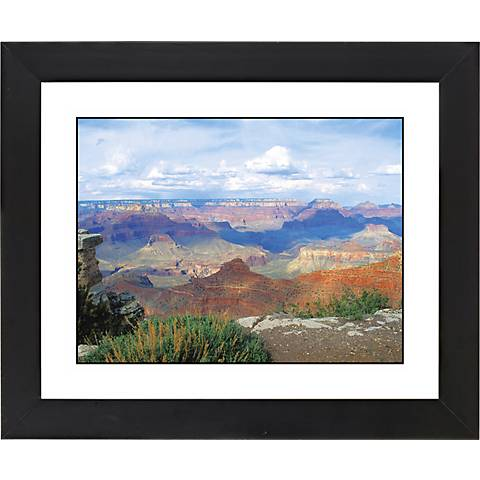 """Desert Vista Black Frame Giclee 23 1/4"""" Wide Wall Art"""