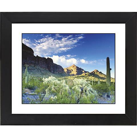 "Cactus Field Black Frame Giclee 23 1/4"" Wide Wall Art"