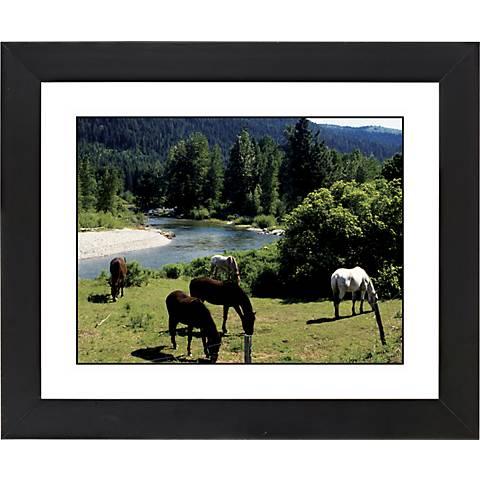 "Mountain Creek Black Frame Giclee 23 1/4"" Wide Wall Art"