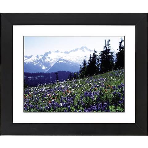 """Flower Field Black Frame Giclee 23 1/4"""" Wide Wall Art"""