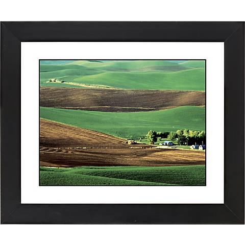 """Rolling Fields Black Frame Giclee 23 1/4"""" Wide Wall Art"""