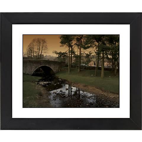 """Stone Bridge Black Frame Giclee 23 1/4"""" Wide Wall Art"""
