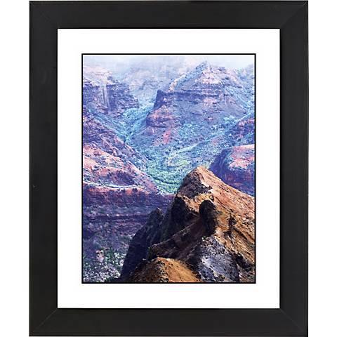 "Canyon Vista Black Frame Giclee 23 1/4"" High Wall Art"