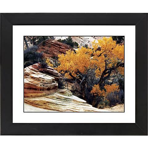 "Autumn Desert Black Frame Giclee 23 1/4"" Wide Wall Art"