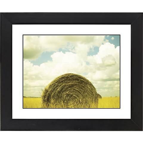 "Hay Bale Black Frame Giclee 23 1/4"" Wide Wall Art"